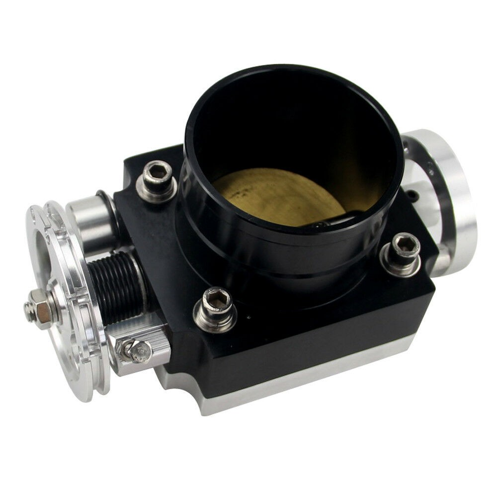 80mm Alloy Aluminum Universal CNC Billet Intake Throttle Body High Flow